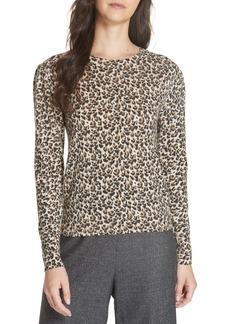 Rebecca Taylor Leopard Print Wool Sweater