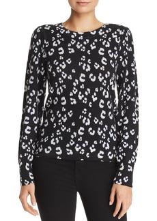Rebecca Taylor Leopard-Printed Wool Sweater