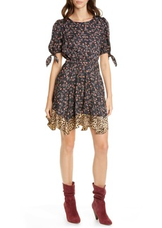 Rebecca Taylor Lia Floral Silk Blend Dress