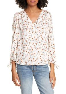 Rebecca Taylor Lia Floral Silk Blend Top