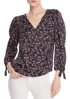 Rebecca Taylor Lia Floral Silk Top