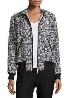 Rebecca Taylor Liane Floral Jacquard Bomber Jacket