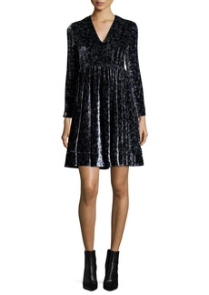 Rebecca Taylor Liane Floral Velvet Dress