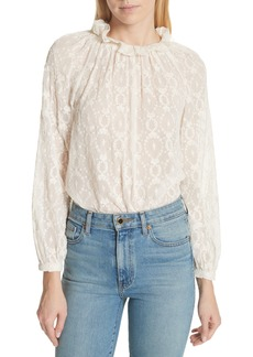 Rebecca Taylor Lily Embroidered Silk Top