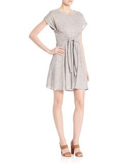 Rebecca Taylor Linen Jersey Wrap Dress