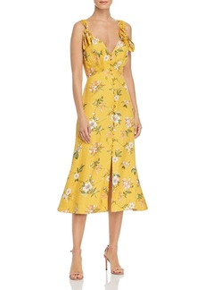 Rebecca Taylor Lita Floral Bow Dress
