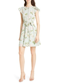 Rebecca Taylor Lita Floral Print Silk Blend Dress