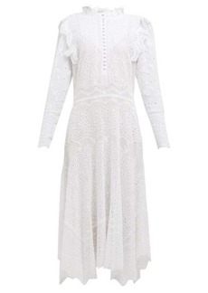Rebecca Taylor Livy broderie-anglaise cotton-blend dress