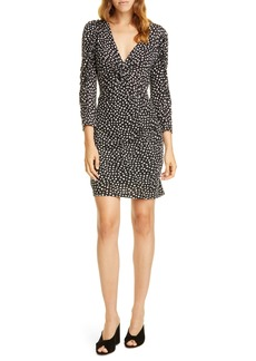 Rebecca Taylor Long Sleeve Dot Jersey Minidress