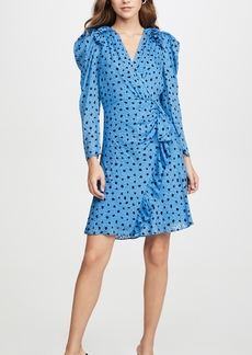 Rebecca Taylor Long Sleeve Dot Wrap Dress