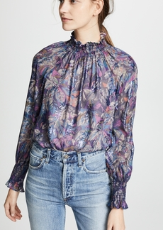 Rebecca Taylor Long Sleeve Floral Top