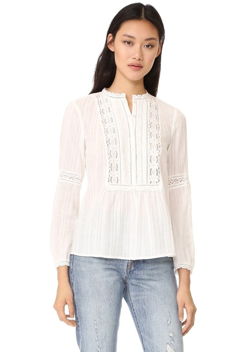 ee6e756b1fc65f On Sale today! Rebecca Taylor Rebecca Taylor Long Sleeve Gauze with ...