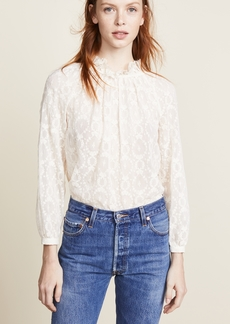 Rebecca Taylor Long Sleeve Lily Embroidered Top