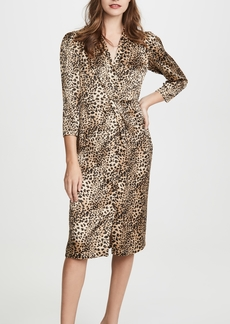 Rebecca Taylor Long Sleeve Lynx Silk Dress