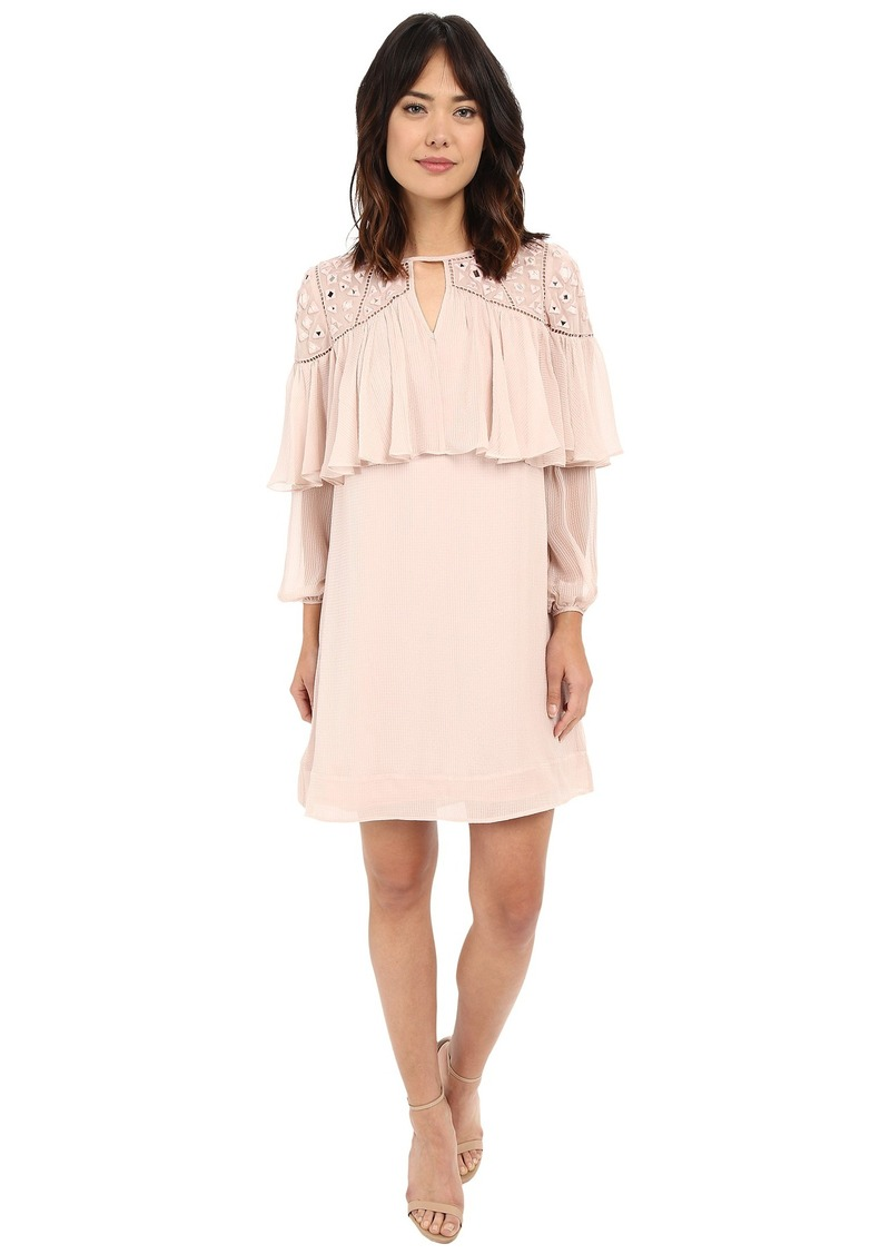 Long Sleeve Mirror Eyelet Dress Rebecca Taylor