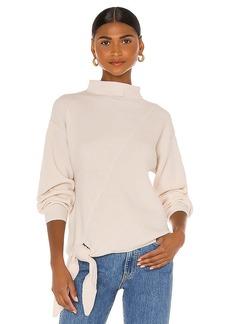 Rebecca Taylor Long Sleeve Side Tie Sweater