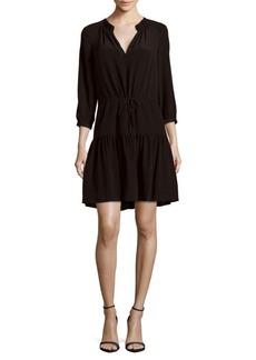 Rebecca Taylor Long-Sleeve Silk Dress