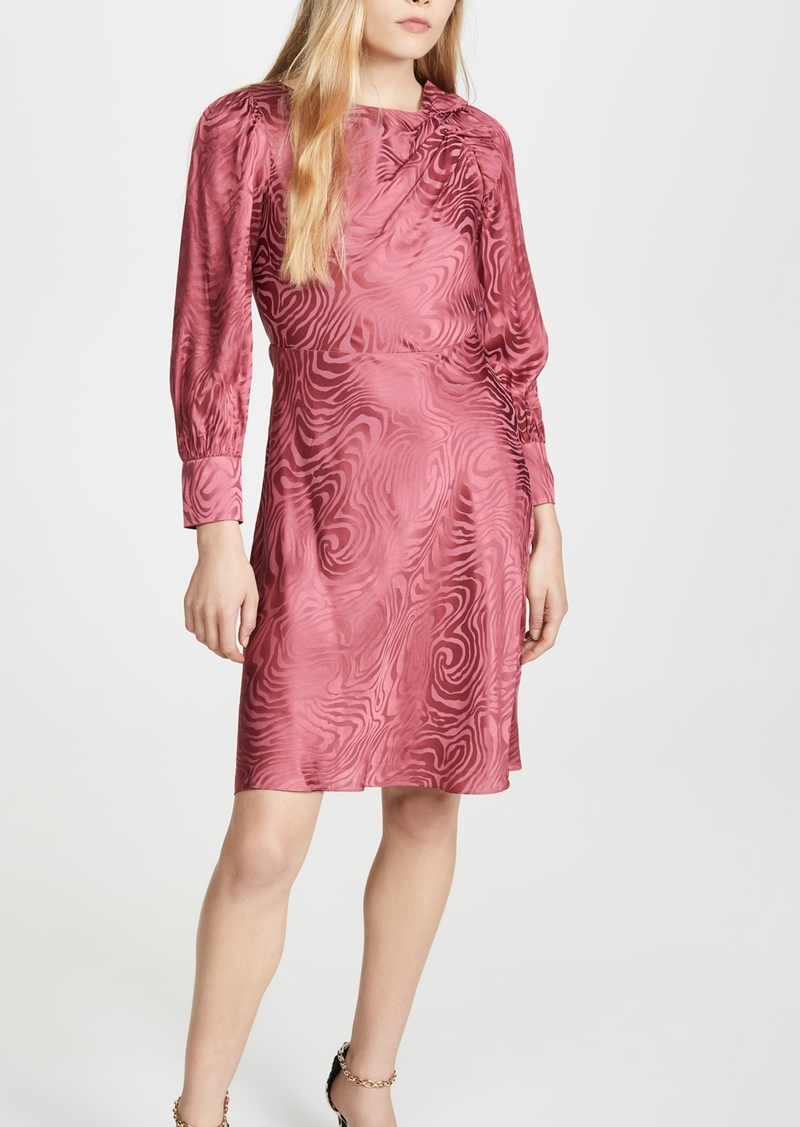 Rebecca Taylor Long Sleeve Swirl Jacquard Dress