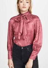 Rebecca Taylor Long Sleeve Swirl Jacquard Top