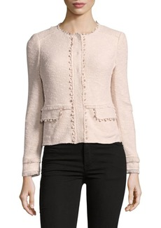 Rebecca Taylor Long-Sleeve Textured Jacket