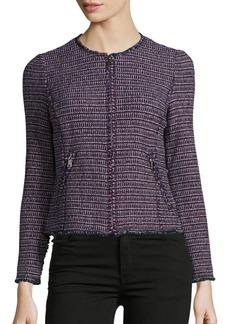 Rebecca Taylor Long-Sleeve Tweed Jacket