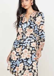 Rebecca Taylor Long Sleeve V Neck Dress