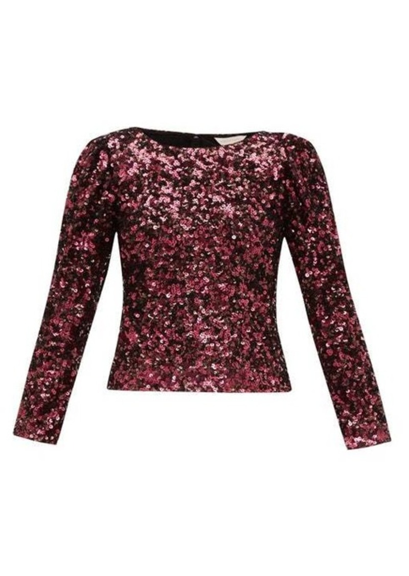 Rebecca Taylor Long-sleeved sequinned top