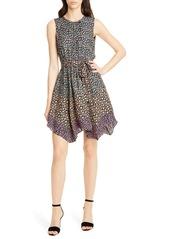 Rebecca Taylor Floral Print Silk Dress