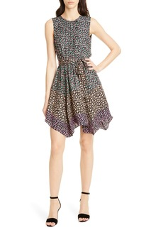 Rebecca Taylor Floral Print Silk Dress