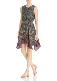 Rebecca Taylor Louisa Sleeveless Floral Mix-Print Dress
