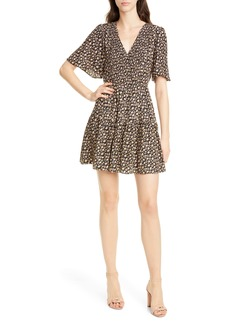 Rebecca Taylor Louisa Floral Print Silk Minidress