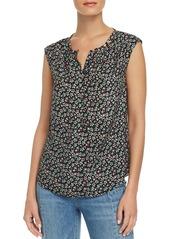 Rebecca Taylor Louisa Floral-Print Silk Top