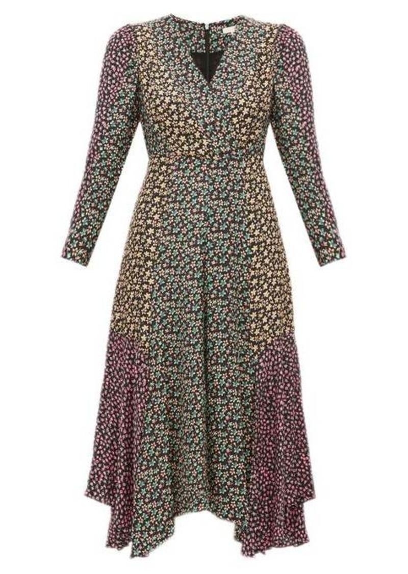 Rebecca Taylor Louise floral-print georgette midi dress