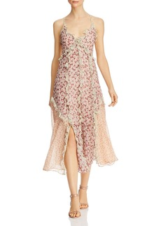 Rebecca Taylor Lucia Ruffled Floral Dress