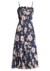 Rebecca Taylor Magnolia floral-print silk-blend dress