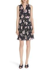 Rebecca Taylor Magnolia Stretch Silk Dress
