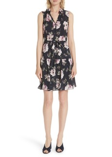 Rebecca Taylor Magnolia Stretch Silk Dress
