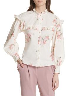 Rebecca Taylor Maia Ruffled Floral Top