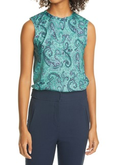 Rebecca Taylor Margaux Paisley Silk Blend Shell Top