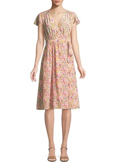 Rebecca Taylor Margo Floral-Print Silk Wrap Dress