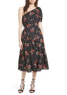 Rebecca Taylor Marguerite One-Shoulder Dress