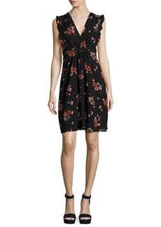 Rebecca Taylor Marguerite Sleeveless Floral-Print Dress