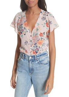 Rebecca Taylor Marlena Floral Silk Blouse