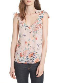 Rebecca Taylor Marlena Floral Silk Tank