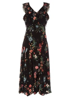 Rebecca Taylor Meadow Floral sleeveless ruffled dress