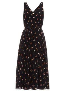 Rebecca Taylor Meadow-print V-neck silk-georgette dress