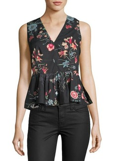 Rebecca Taylor Meadow Sleeveless Peplum Top