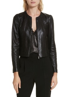 Rebecca Taylor Metallic Leather Jacket