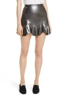 Rebecca Taylor Metallic Leather Miniskirt