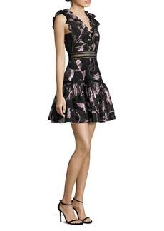 Rebecca Taylor Metallic Silk A-Line Dress
